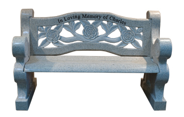 Carved Rose Bench