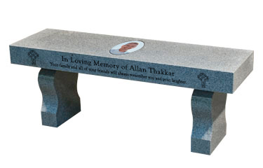 Curved Leg Memorial or Garden Bench