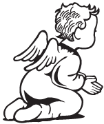 Clipart Image For Gravemarker Monument angel 03