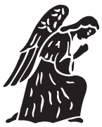 Clipart Image For Gravemarker Monument angel 09