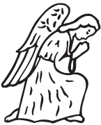 Clipart Image For Gravemarker Monument angel 10