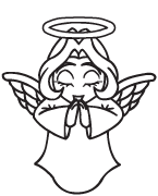 Clipart Image For Gravemarker Monument angel 11