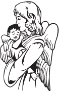 Clipart Image For Gravemarker Monument angel 14
