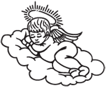 Clipart Image For Gravemarker Monument angel 15