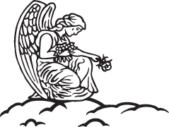 Clipart Image For Gravemarker Monument angel 17