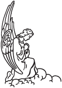 Clipart Image For Gravemarker Monument angel 18