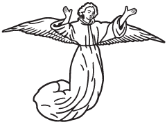Clipart Image For Gravemarker Monument angel 21