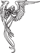 Clipart Image For Gravemarker Monument angel 25