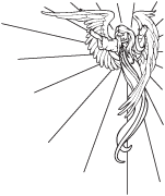 Clipart Image For Gravemarker Monument angel 26