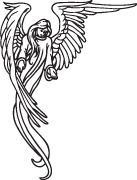 Clipart Image For Gravemarker Monument angel 27
