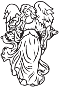 Clipart Image For Gravemarker Monument angel 28