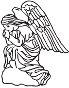 Clipart Image For Gravemarker Monument angel 32