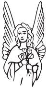 Clipart Image For Gravemarker Monument angel 33