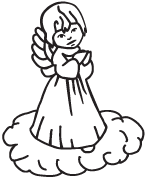 Clipart Image For Gravemarker Monument angel 36