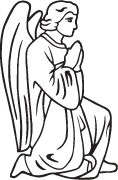 Clipart Image For Gravemarker Monument angel 38