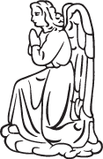 Clipart Image For Gravemarker Monument angel 39