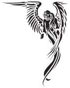Clipart Image For Gravemarker Monument angel 40