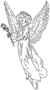 Clipart Image For Gravemarker Monument angel 41