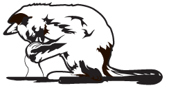 Clipart Image For Gravemarker Monument Cat 09
