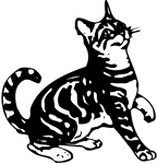 Clipart Image For Gravemarker Monument Cat 12