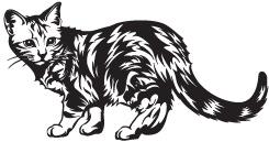 Clipart Image For Gravemarker Monument Cat 15