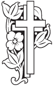 Clipart Image For Gravemarker Monument cross 42