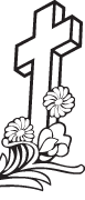 Clipart Image For Gravemarker Monument cross 86