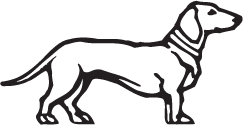 Clipart Image For Gravemarker Monument Dog 06