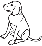Clipart Image For Gravemarker Monument Dog 07