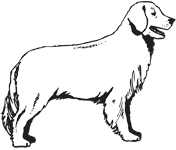 Clipart Image For Gravemarker Monument Dog 10
