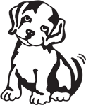 Clipart Image For Gravemarker Monument Dog 12