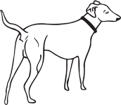 Clipart Image For Gravemarker Monument Dog 17