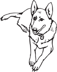 Clipart Image For Gravemarker Monument Dog 19