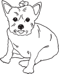 Clipart Image For Gravemarker Monument Dog 21