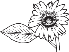 Clipart Image For Gravemarker Monument flower 09