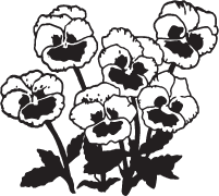 Clipart Image For Gravemarker Monument flower 11