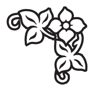 Clipart Image For Gravemarker Monument flower 14