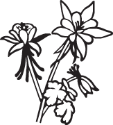 Clipart Image For Gravemarker Monument flower 16