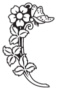 Clipart Image For Gravemarker Monument flower 23