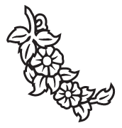 Clipart Image For Gravemarker Monument flower 24