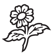Clipart Image For Gravemarker Monument flower 25