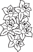 Clipart Image For Gravemarker Monument flower 34