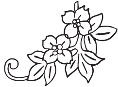 Clipart Image For Gravemarker Monument flower 36