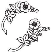 Clipart Image For Gravemarker Monument flower 39