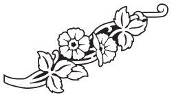 Clipart Image For Gravemarker Monument flower 40