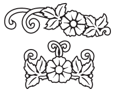 Clipart Image For Gravemarker Monument flower 41