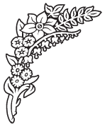 Clipart Image For Gravemarker Monument flower 53