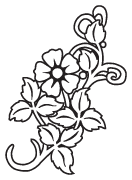 Clipart Image For Gravemarker Monument flower 55