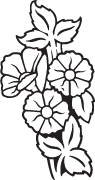 Clipart Image For Gravemarker Monument flower 56