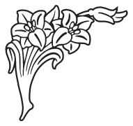 Clipart Image For Gravemarker Monument flower 58